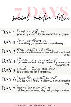 Social Media Negative, Quitting Social Media, Social Media Break, Social Media Detox, Social Media Quotes, Social Media Challenges, Challenges To Do, 7 Day Challenge, Detox Challenge
