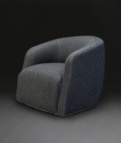 Theo Club Swivel Chair designed by Andrew Margolin: AndrewMorrisDesign