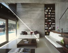 pitch house: beautiful living room + view + windows
