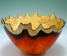 Trial by Fire II  Box Elder Bowl by makye77 on Etsy