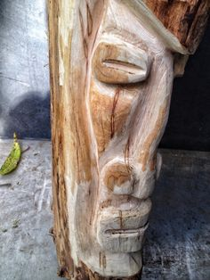 And now, for something different, a tiki man carving Tiki Man, Then And Now, Different, Bonsai, Garden Sculpture, Carving, Statue, Canvas, Blog