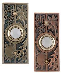 DH1691L u0026 DH1695L Craftsman Style Lighted Wired Doorbell Buttons  sc 1 st  Pinterest & How cute is this doorbell with heart design!? homebuilding. door ...