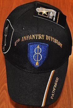 b651f92325a US Army 8th Infantry Division Pathfinder Golden Arrow Embroidered Hat
