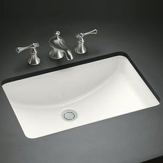 Kohler K2214-0 Ladena Undermount Style Bathroom Sink - White