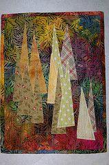 farm art, art quilt, christma tree, tree farm, farm quilt, christmas trees