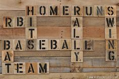 Baseball Enthusiast Pallet Art Word Collage Sports by ReUseItArt, $25.00