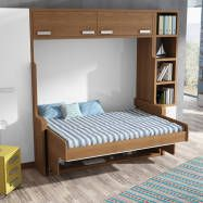MUEBLE CAMA ABATIBLE CON ESCRITORIO, PARA CAMA DE MATRIMONIO : Chambre moderne par Muebles Parchis. Dormitorios Juveniles.