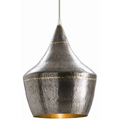 Made in iron and plated in brass, this classic silhouette features a matte outside and an interior polished to a bright sheen – enhancing the illumination. Great in multiples or paired with the Mason