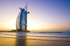 The Burj al Arab is a luxurious hotel in Dubai. For more information about this hotel or other hotels in Dubai go to: https://www.meetthecities.com/guide/dubai/dubai-travel-hotels/