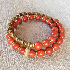 Healing and Grounding, Sandalwood and Red Jasper 27 beads unisex mala bracelet – Lovepray jewelry