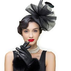 Aliexpress.com   Buy Elegant Black Vintage Ladies Summer Wedding Hats Hair  For Women Sinamay With Feather Design Fascinator Cocktail Party Hat from  Reliable ... 719aa867ddb