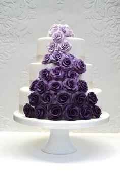 Purple Ombre Rose Cascade