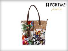 Bolso Nature de For Time Fashion colección Primavera Verano. Estampados florales y primaverales
