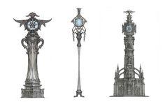 ArtStation - Fantasy clock tower sketch, Choi Hoshik