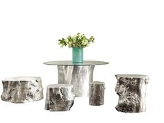 Log Collection from Phillips Collection Phillips Collection, Rustic Contemporary, Furniture Design, Candles, Chair, Table, Outdoor, Woody, Candle Holders
