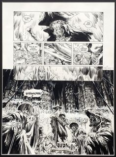 Long John Silver - Original comic strip (india ink on paper) by Mathieu Lauffray http://www.2dgalleries.com
