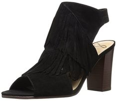 Shop Sam Edelman Women's Elaine Heeled Sandal, Black, 9 M US - Featured, Shoes