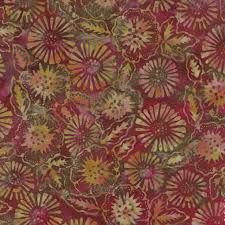 Moda Fabric Tiger Lily Batiks Sunset - By The Yard Burgundy, 21st, Lily, Yard, Quilts, Sunset, Fabrics, Color, Content