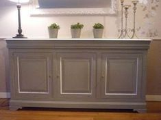 idée pour repeindre le buffet Plus Tv Furniture, Hand Painted Furniture, Upcycled Furniture, Furniture Makeover, Home Staging, Home Projects, Sideboard, Interior Decorating, Sweet Home