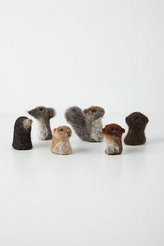 woolen finger puppets.