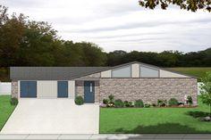 Contemporary Exterior - Front Elevation Plan #84-514 - Houseplans.com