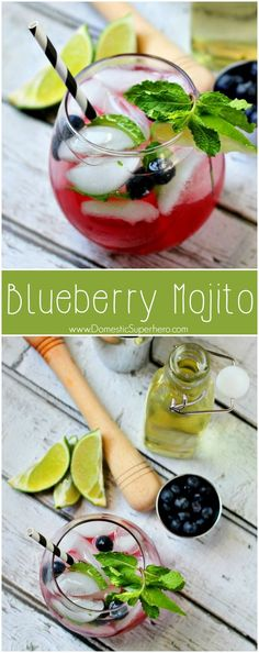 Blueberry Mojito - the perfect and easiest spring and summer cocktail! Cocktails Drawing, Great Recipes, Favorite Recipes, Family Recipes, Delicious Recipes, Blueberry Mojito, Summer Cocktails, Summer Beverages, Refreshing Cocktails