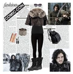Modern John snow (Game Of Thrones) by dinapetridi on Polyvore featuring Reiss, Marc Jacobs, Majestic, John Lewis, Pieces, MANGO, Charlotte Tilbury, modern, fabulous and GameOfThrones
