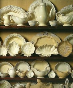 Lovely creamware collection  Leeds and others
