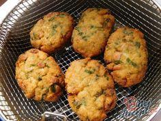 Květákové placičky s medvědím česnekem Muffin, Cooking, Breakfast, Diet, Kitchen, Morning Coffee, Kochen, Muffins, Cupcakes