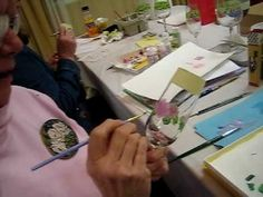 Beth wagner painting her famous rose