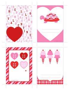 Free Printable Valentine's Day Cards by our friends @Anders Søndergaard Søndergaard Ruff Custom Designs print on label material or card stock http://www.onlinelabels.com