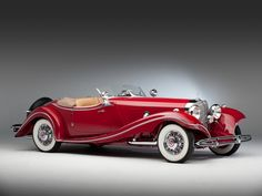 The 1935 Mercedes-Benz 500K Roadster, with a combined production of 343 cars, is one of the most beautifully struck and elegant prewar automobiles ever built.