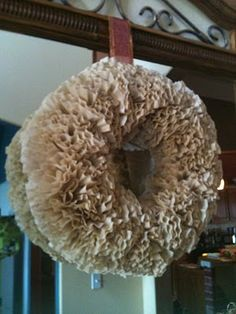 Coffee filter wreath DIY.