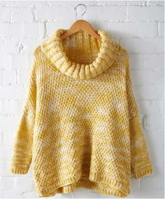 Lemon Curry Ease Pullover | A sunny knit sweater ideal for almost any body type.