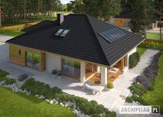 #Projekt domu #ARCHIPELAG - taras domu Liv 3 G1