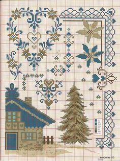 Gallery.ru / Фото #80 - №4 2015 - irinask Cross Stitch House, Xmas Cross Stitch, Cross Stitch Heart, Cross Stitch Borders, Modern Cross Stitch Patterns, Cross Stitch Flowers, Counted Cross Stitch Patterns, Cross Stitch Designs, Cross Stitching