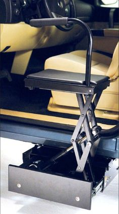 Stow-Away lift to aid in transfer from wheelchair or ground level into a high vehicle