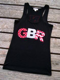 Go Big Red {GBR} Nebraska Husker Tank Top   www.ffaprincess.com
