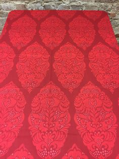 Red tablecloth, Printed Tablecloth, home decor, Scandinavian Textile by SiKriDream on Etsy