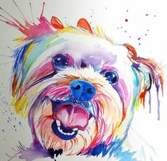 watercolor dog paintings - Google Search
