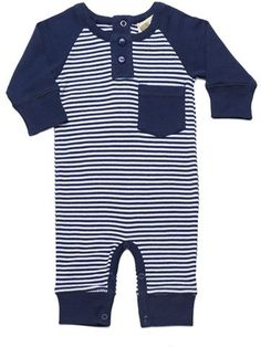 Infant Boy's Monica + Andy Dylan Organic Cotton Henley Romper