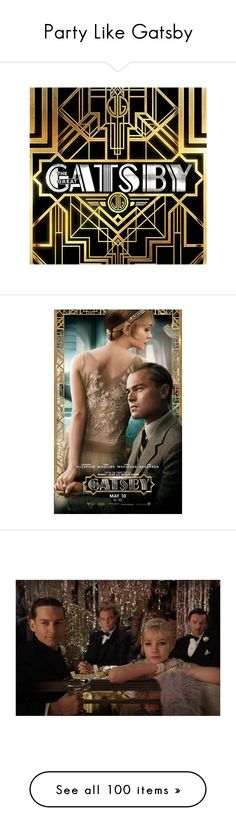 Party Like Gatsby by katleadavis on Polyvore featuring movies, backgrounds, photos, people, the great gatsby, gatsby, bags, handbags, clutches and books