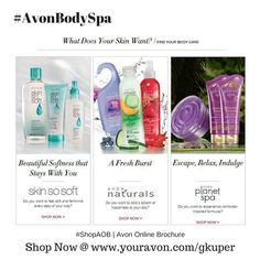 #AvonBodySpa   Find your body care #SkinSoSoft #AvonNaturals #AvonPlanetSpa   #ShopAOB @ www.youravon.com/gkuper