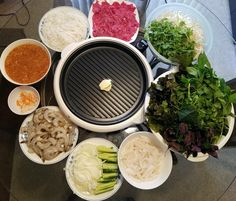 Vietnamese Grilled Beef With Squid and Shrimp Recipe ( Bò Nướng Vỉ ). A printable recipe with step-by-step photos is avaialble ! Potluck Recipes, Cookbook Recipes, Grilling Recipes, Wine Recipes, Vietnamese Cuisine, Vietnamese Recipes, Asian Recipes, Grilled Shrimp Recipes, Grilled Beef