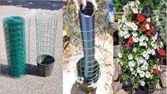 ro: Cum iti faci un turn de flori simplu si rapid ( tutorial DIY) Diy Tutorial, Ladder Decor, Backyard, Patio, Green Ideas, Rain, Plant, Backyards, Terrace