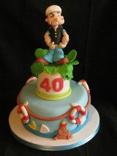 Popeye Birthday Cake