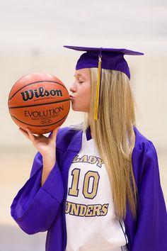Chattanooga Senior Portraits | Central High School | Girl with basketball | Pamela Greer Photography