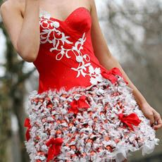 Clothes Made From Recycled Materials | chocolate lindor dress we ve seen dresses made from recycled materials ...
