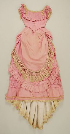 Dress 1871, French, Made of silk