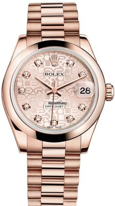 Rolex Datejust 31mm $28,170 #Rolex #watch #watches #chronographes 18K Everose Gold President Bracelet